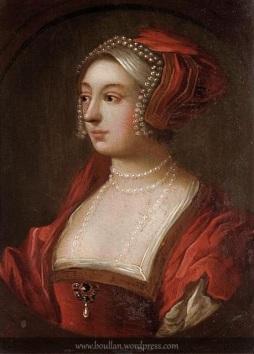 Retrato do século XIX de uma nobre Tudor, que acredita-se ser Ana Bolena, artista desconhecido.