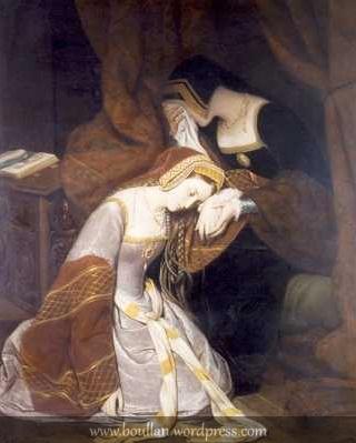 Anne Boleyn in the Tower, 1835, por Edouard Cibot.