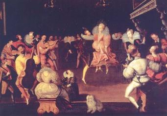 Elizabeth e Robert Dudley dançando