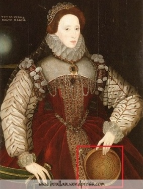 """The Red Sieve Portrait"", atribuído a George Gower, cerca de 1579."
