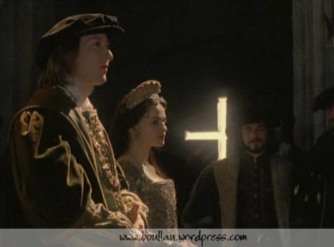 Scott Handy como Henry Percy e Helena Bonham Carter como Ana Bolena.
