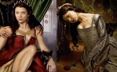 Gatos pretos nas fotos promocionais de Ana Bolena, na série The Tudors.