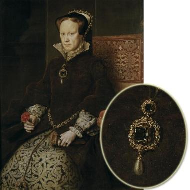 Maria I, por Antonio Moro, em 1554.