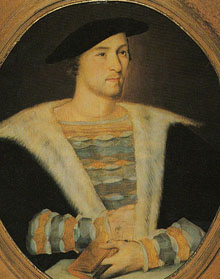 William Carey, uma das vítimas de 1528. Morreu com 28 anos.