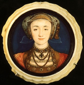 Ana de Cleves, por Hans Holbein, em 1539.