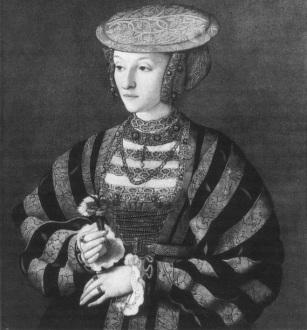Ana de Cleves, feito por Barthel Bruyn, em 1540.