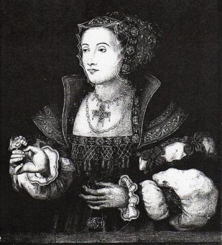 Ana de Cleves, por artista desconhecido.