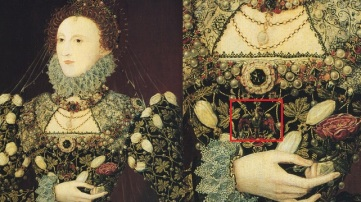"""The Phoenix Portrait"", atribuído a Nicholas Hilliard, cerca de 1575."
