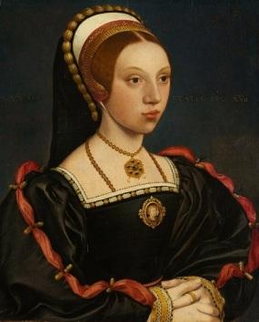 Provável Catarina Howard, feito por Hans Holbein.