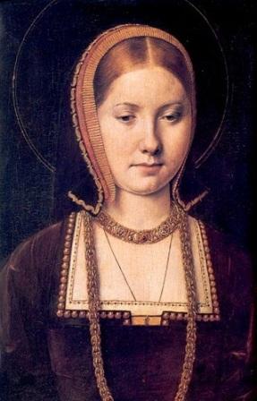 Catarina de Aragão, por Michael Sittow.