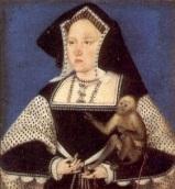 Catarina de Aragão com seu macaco