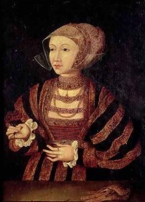Quadro póstumo de Ana de Cleves. Artista desconhecido.
