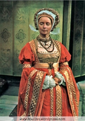Elvi Hale na série The Six Wives of Henry VIII, em 1970.