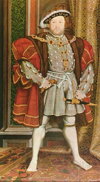 Cópia de um retrato de Henrique VIII originalmente feito por Hans Holbein. Artista desconhecido.