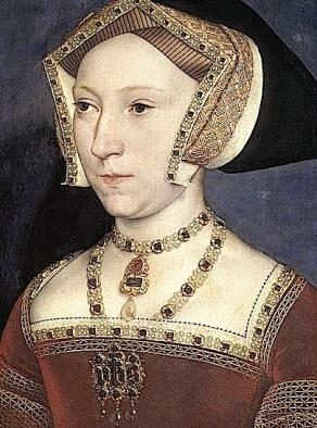 Jane Seymour usando Carcanet, Pingente e Broche (Hans Holbein, em 1536-37)
