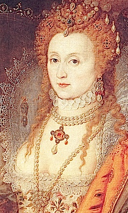 """The Rainbow Portrait"", atribuído a Isaac Oliver, cerca de 1600."