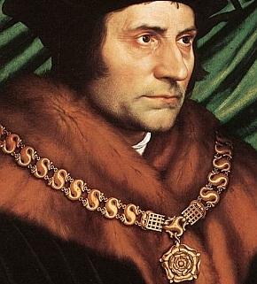Thomas More usando uma corrente de ouro.