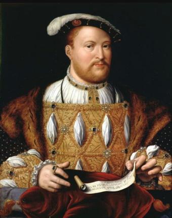 Henrique VIII, por Joos van Cleve, em 1535.