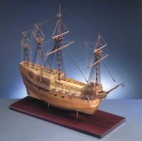 Modelo de madeira do Mary Rose