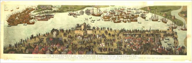 A Batalha de Solent, feito por James Basire em 1778.