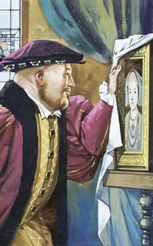 'Holbein foi enviado para pintar Ana de Cleves', por Angus McBride.