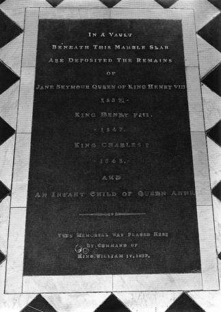 atual túmulo de Henrique VIII e Jane Seymour