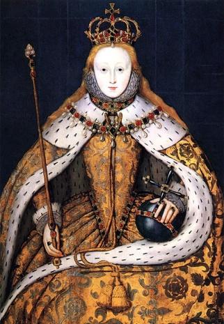 Cópia do retrato da coroação de Elizabeth I, por artista desconhecido, cerca de 1600.