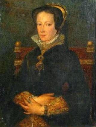 Maria I, baseado no quadro de Antonio Moro, século 19.