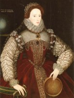 """The Red Sieve Portrait"", atribuído a George Gower, cerca de 1579."