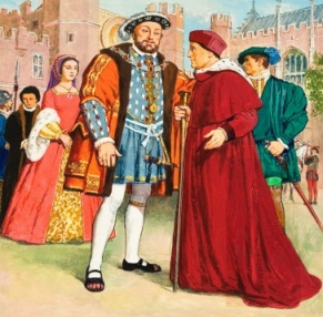 'Thomas Wolsey and Henry VIII', por Clives Uptton.