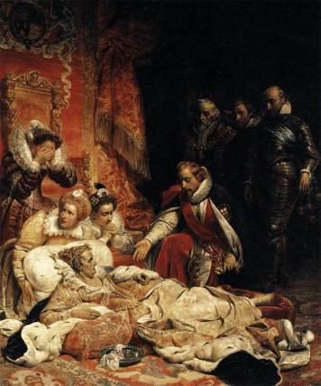 'A Morte de Elizabeth I', por Paul Delaroche em 1828.