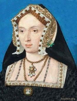 Cópia da miniatura de Ana Bolena feita por Holbein, por artista desconhecido.