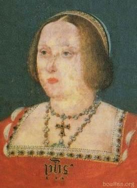 Retrato de Catarina de Aragão feito provavelmente por Lucas Horenbout, em 1525-26.