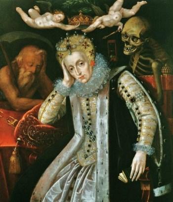 Elizabeth I por artista desconhecido, 1610.