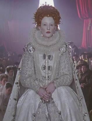 Filme 'Elizabeth' de 1998.