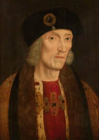 Henrique VII, por artista desconhecido, em 1600.