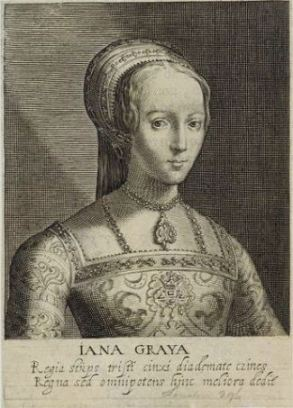 Jane Grey por Willem van de Passe e Magdalena van de Passe