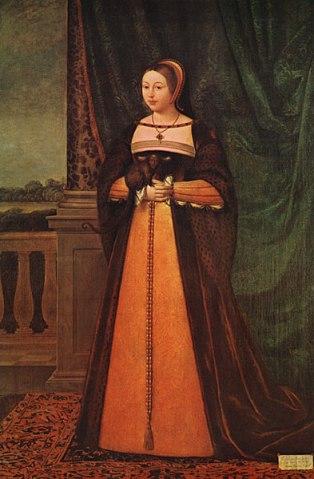 Margaret Tudor, por Daniel Mytens.