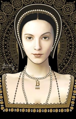 Anne Boleyn, feita por Rick Davidson.