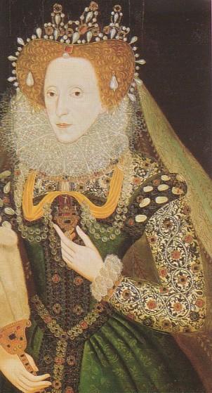 Elizabeth I por artista desconhecido, em 1585.