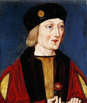 Retrato Póstumo de Henrique VII, por English School em 1510-1520.