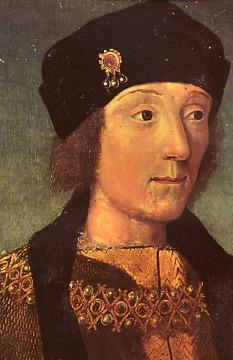 Henrique VII por artista desconhecido, cerca de 1470-1480.