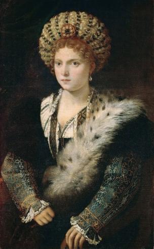 Isabella d'Este, por Ticiano em 1534-1536