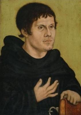 Martinho Lutero por Lucas Cranach em 1523.
