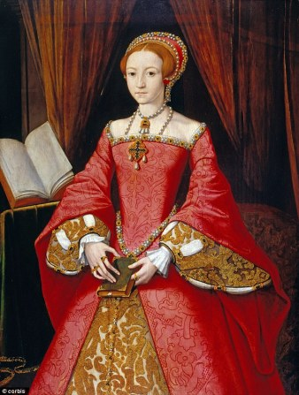 Elizabeth, atribuído a William Scrots, cerca de 1546-1547.