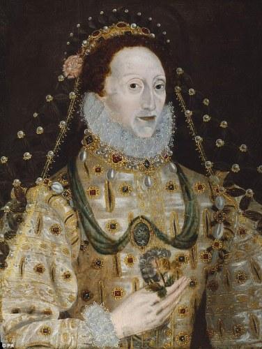 Este retrato da rainha Elizabeth I foi feito por um artista desconhecido é de 1580-1590.