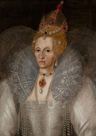 Elizabeth I, atribuído a  Gheeraerts em 1590