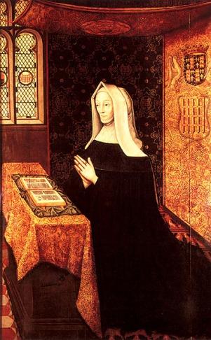 Margaret Beaufort rezando, por artista desconhecido em 1558.