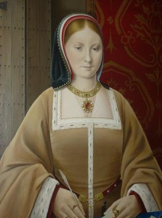 Pintura moderna retratando Catarina