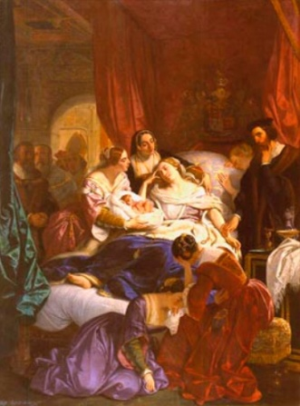 A morte de Jane Seymour, por Eugene Deveria.